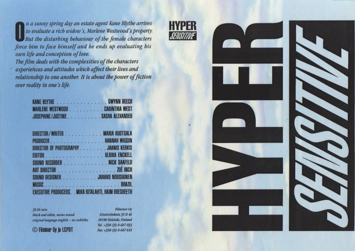 Hyper Sensitive, juliste